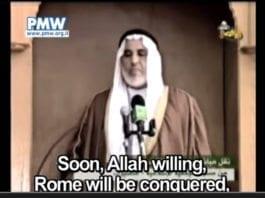 - Snart vil Roma og resten av Europa bli erobret av islam, sier Younus Al-Astal på Hamas-tv 11. april 2008. (Skjermdump fra Al-Aqsa TV)