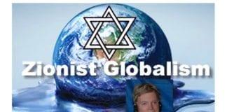 David Duke, en av USAs fremste rasister og antisemitter, er tydeligvis en inspirasjonskilde for Mads Gilberts legevenner på Gaza-stripen. (Skjermdump fra David Dukes video, innfelt bilde av Duke fra Wikimedia Commons)