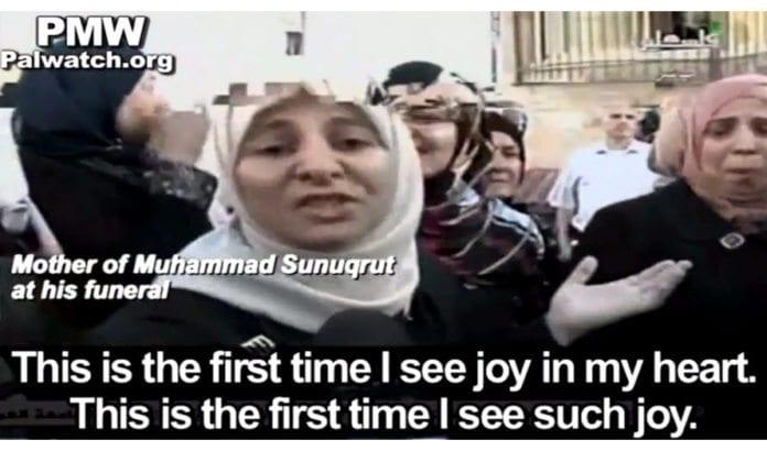 Skjermdump fra PA TV, via Palestinian Media Watch.