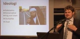 Lars Akerhaug holdt foredrag i MIFF Oslo 23. september 2014. (Skjermdump fra YouTube-opptak)