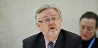 William Schabas under et møte i FNs menneskerettighetsråd i 2011. (Foto: Jean-Marc Ferr, UN Photo)