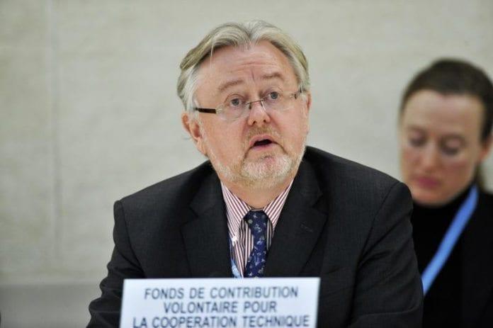William Schabas under et møte i FNs menneskerettighetsråd i 2011. (Foto: Jean-Marc Ferr, UN Photo)