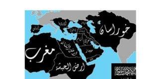 """Grafikk av """"Den islamske statens"""" drøm et islamistisk kalifat, som er spredt på internett av terrorbevegelsens tilhengere."""