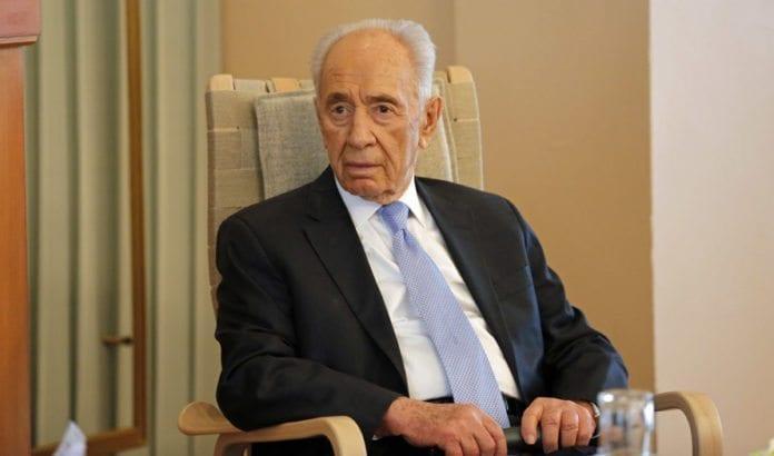Israels tidligere president Shimon Peres under statsbesøket i Norge, på Nobelinstituttet i Oslo 13. mai 2014. (Foto: Tor-Bjørn Nordgaard)
