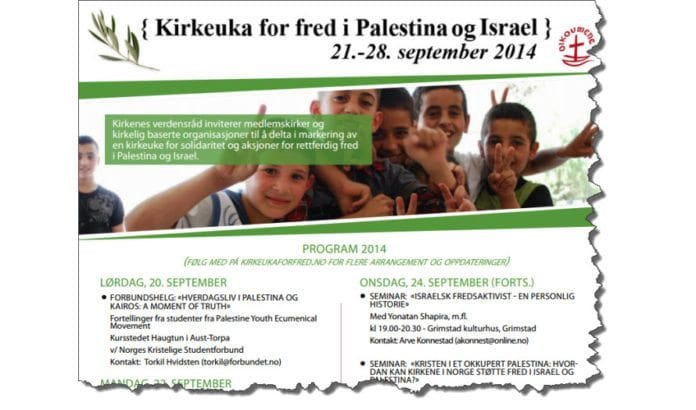 Faksmile fra Kirkeukas program.