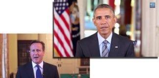 Se nyttårshilsener fra president Barack Obama og statsminister David Cameron. (Skjermdump fra YouTube)