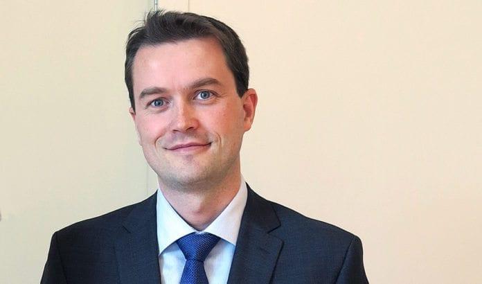 Statssekretær Bård Glad Pedersen. (Foto Conleth Brady, IAEA)