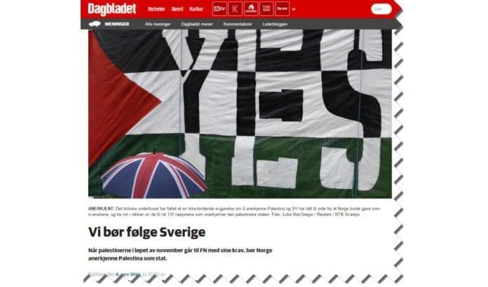 Skjermdump av stipendiatenes artikkel på Dagbladet.no.