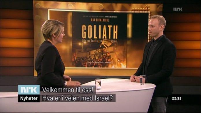 Gry Blekastad Almås og Max Blumental i NRK Urix 11. november 2014. (Skjermdump fra NRK)