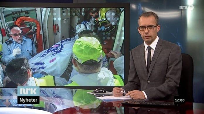 NRKs programleder Jarle Roheim Håkonsen i sendingen kl. 12.00 på NRK 1 tirsdag 18. november 2014. (Skjermdump NRK)