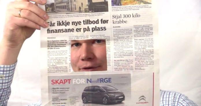Omkring 90 prosent av medienes dekning handler om de fem millioner som bor i Norge. Omlag 10 prosent handler om de syv milliarder som bor utenfor Norge.