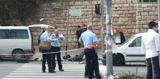 Åstedet for terrorangrepet i Jerusalem 5. november 2014. (Foto: Yishai Abergil, Tazpit)