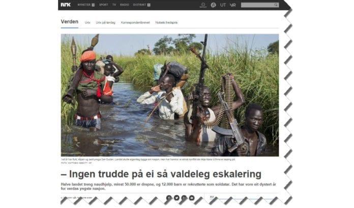 Skjermdump fra Nrk.no 14. desember 2014.