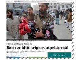 Skjermdump fra Aftenposten.no 17. desember 2014.