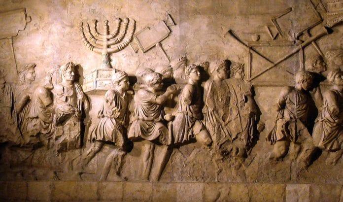 På triumfbuen til Titus i Roma blir ødeleggelsen av Jerusalem illustrert. (Illustrasjonsfoto: Wikimedia Commons)