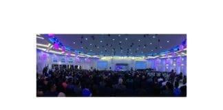 """Forsamlingen under møtet der Netanyahu talte til """"Forum for innrullering av kristne i IDF"""". (Foto: Facebook)"""