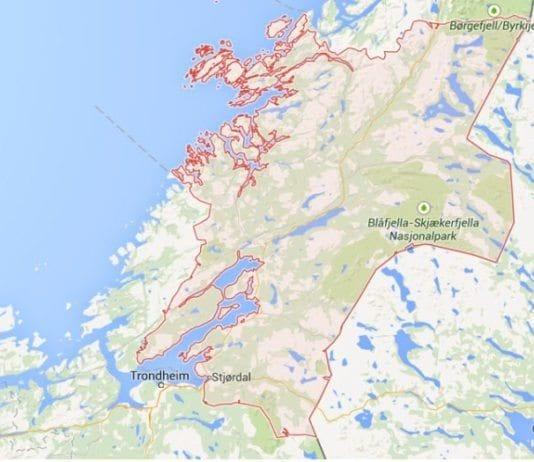 Nord-Trøndelag. (Google Maps)