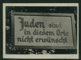 Jødene er ikke ønsket på dette sted. (Foto: National Library)