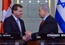 Canadas utenriksminister John Baird og Israels statsminister Benjamin Netanyahu. (Foto: GPO)