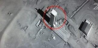 Bildet som ble sendt på Kanal 2 onsdag 21. januar 2015 skal være tatt av den kommersielle satellitten Eros B, som er eid av firmaet ImageSat International. (Skjermdump fra Kanal 2)