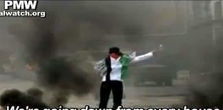 Video fra Fatah oppfordrer til knivdrap på israelere. (Foto: Skjermdump fra PMW / YouTube)
