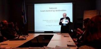 Arne Bjarte-Larsson, leder av MIFF Trondheim, ønsker velkommen til MIFF-møtet i Steinkjer. (Foto: MIFF)