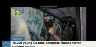 Skjermdump fra Times of Israels web-tv.