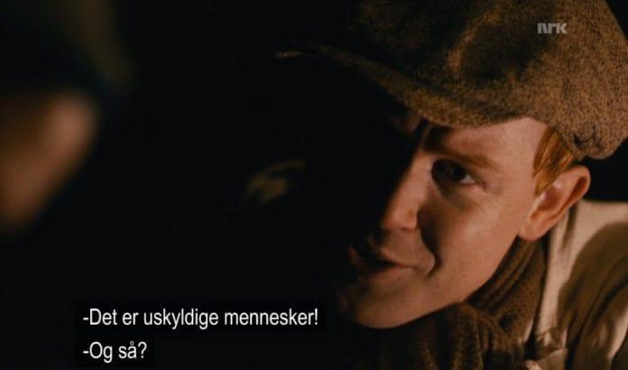 Skjermdump fra NRK-serien Kampen om tungtvannet.