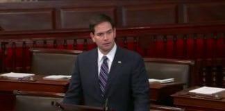 Senator Marco Rubio. (Skjermdump fra videoopptak på YouTube)