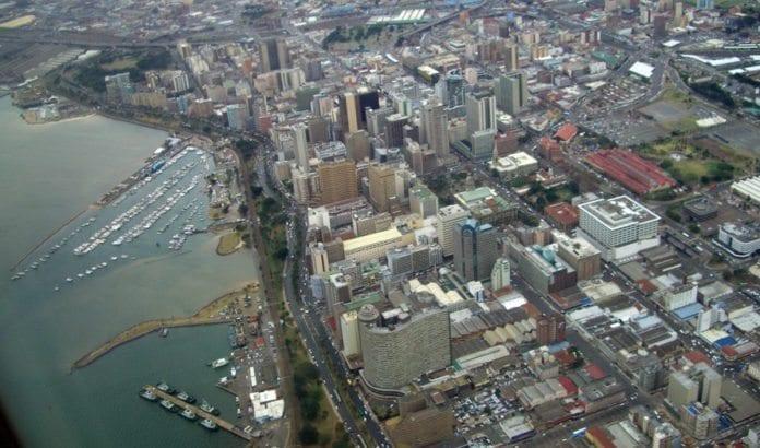 Den sørafrikanske byen Durban sett ovenfra. (Illustrasjonsfoto: Wikimedia Commons)