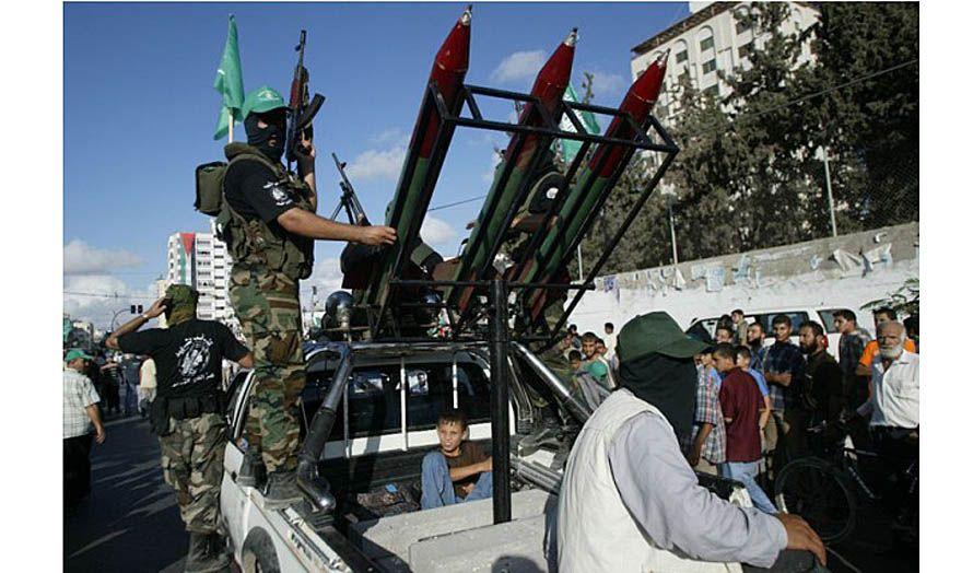 Terrorister fra Hamas. (Illustrasjonsfoto: IDFs blogg)