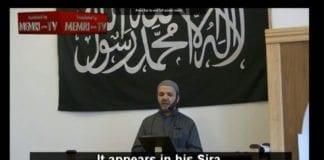 Imamen Hajj Saeed taler i moskeen Masjid Al-Faruq i København. (Foto: Skjermdump fra MEMRI / YouTube)