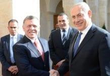 Israels statsminister Benjamin Netanyahu og Jordans Kong Abdullah sammen i januar 2014. (Foto: GPO)
