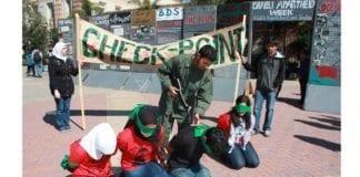 Antisionistisk markering på amerikansk universitet. (Foto: AMCHA Initiative)