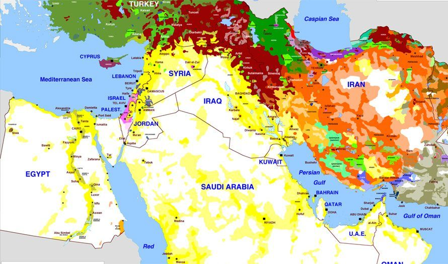 kart over midtøsten 40 kart som forklarer Midtøsten   MIFF kart over midtøsten