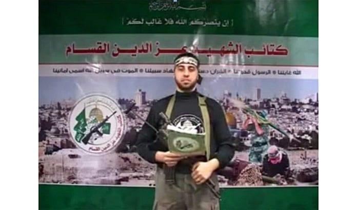 Denne mannen ble presentert som sivil journalist etter at han ble drept under Gaza-krigen 2014. (Foto: Skjermdump fra YouTube via Jpost.com)