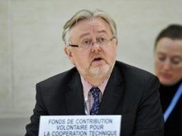William Schabas under et møte i FNs Menneskerettighetsråd i 2011. (Foto: Jean-Marc Ferr / FN)