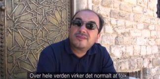 "Den palestinske aktivisten Sami Abu Shehadeh i filmen ""My homeland"". (Skjermdump fra NRK Urix)"