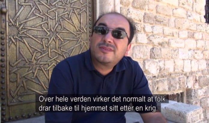 Den palestinske aktivisten Sami Abu Shehadeh i filmen