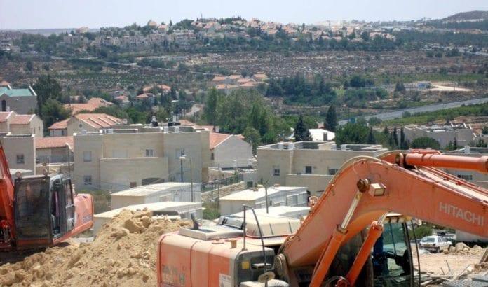 Fra en byggeplass i bosetningsblokken Gush Etzion. (Illustrasjonsfoto: Al Masara / Flickr.com)
