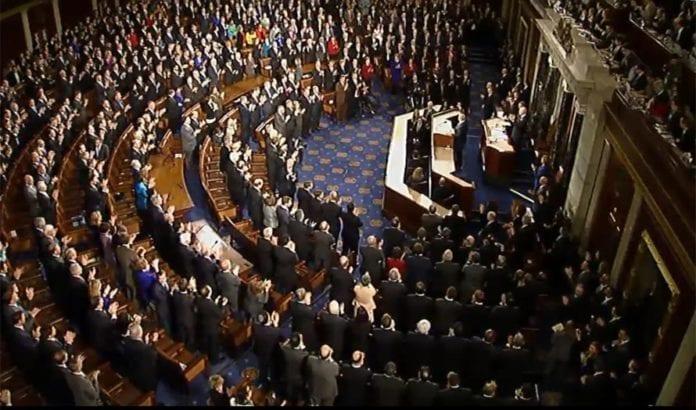 Netanyahu advarte den amerikanske kongressen mot Iran-avtalen tirsdag 3. mars 2015. (Foto: Skjermdump fra YouTube)
