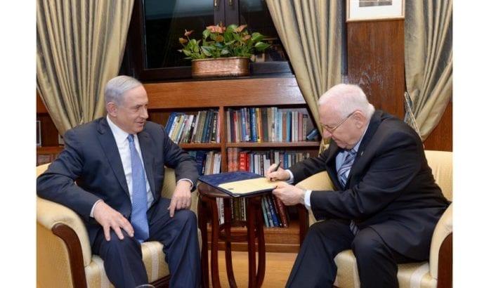Netanyahu får mandat av president Rivlin til å danne ny regjering i Israel. (Foto: GPO)