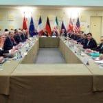 Atomforhandlinger mellom P5+1 og Iran mandag 30. mars 2015 i Lausanne, Sveits. (Foto: Det amerikanske utenriksdepartementet / Flickr.com)