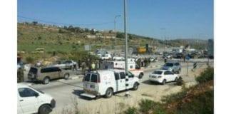Veikrysset Tapuah, der en IDF-patrulje ble beskutt onsdag, slik det så ut etter et terrorangrep på samme sted i 2013. (Foto: Magen David Adom)