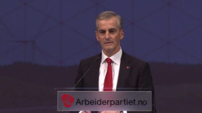 Arbeiderpartiets leder Jonas Gahr Støre. (Skjermdump fra Arbeiderpartiets YouTube-kanal)