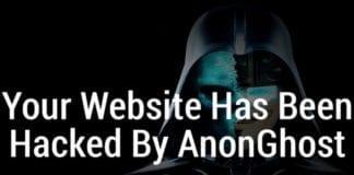 Skjermdump fra en hacket nettside.