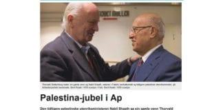 NTB brukte Thorvald Stoltenberg til å legitimere palestiner som hyller terrorister. (Foto: Skjermdump fra Abcnyheter.no)