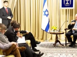 President Reuven Rivlin i møte med pressen på uavhengighetsdagen 2015. (Foto: Den israelske presidentens kontor)