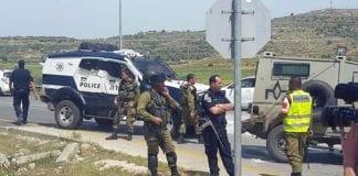 Fra åstedet for onsdagens knivangrep i Samaria. (Foto: Israel Hatzolah / Twitter)