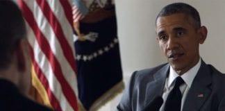 USAs president Barack Obama innrømmer fare for iranske atomvåpen noen år fram i tid. (Foto: Skjermdump fra NPR / YouTube)